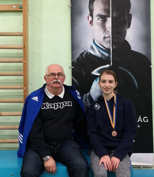 Lajcsik Róza edzőjével, Igaly Jánossal